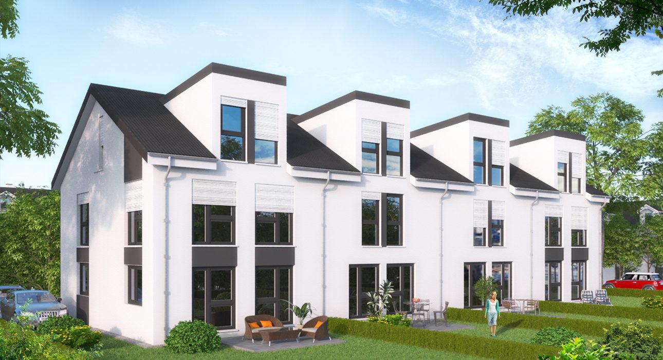 Neubauprojekt Von 4 Reihenhauser Idyllisch Stilvoll Wohnen Im
